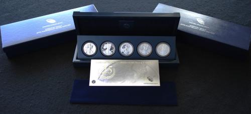 2011 American Silver Eagle 5 Coin Anniversary Set