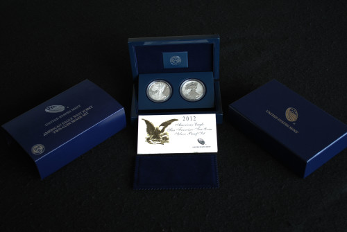 2012 American Eagle San Francisco Two-Coin Anniversary Set