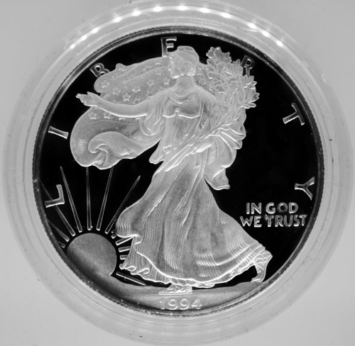 1994-P Proof Silver Eagle with Box & COA