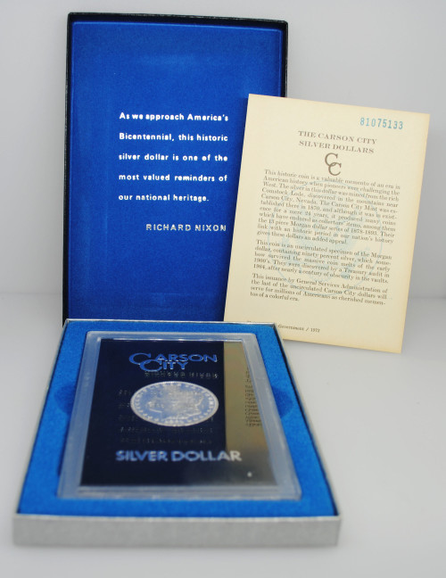 1878-CC Morgan GSA Dollar with Box & COA