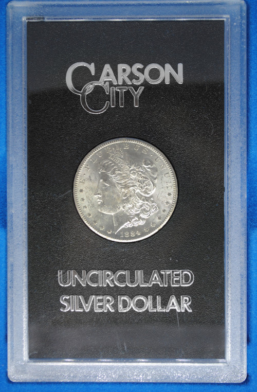 1884-CC Morgan GSA Dollar with Box & COA