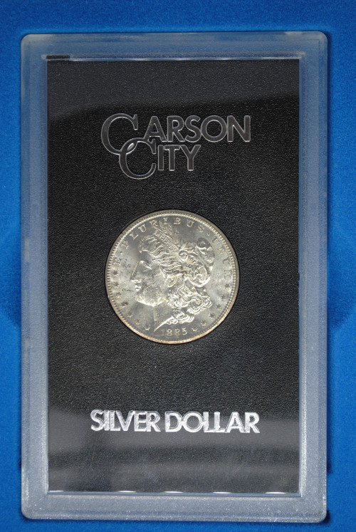 1885-CC Morgan GSA Dollar with Box & COA