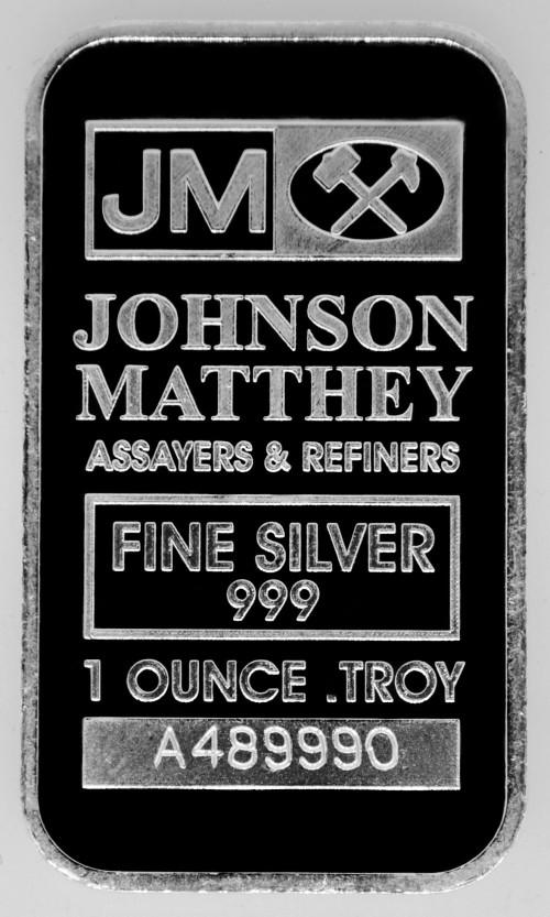1 oz .999 JM Silver Bar