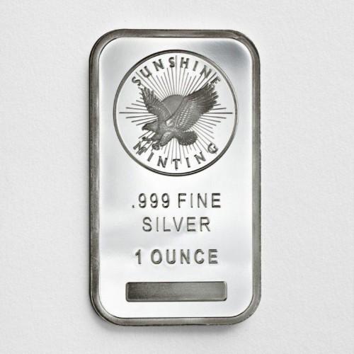 1 oz .999 Sunshine Silver Bar