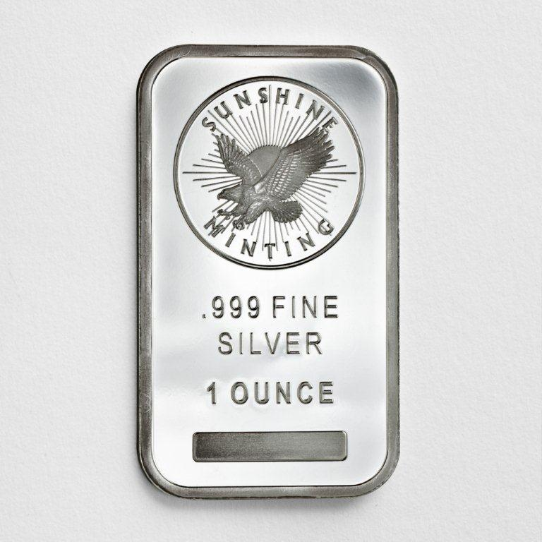 1 oz .999 Sunshine Silver Bar