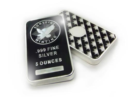 5 oz .999 Sunshine Silver Bar