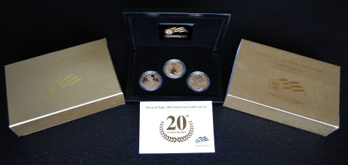 2006 20th Anniversary Gold Eagle Three Coin Set