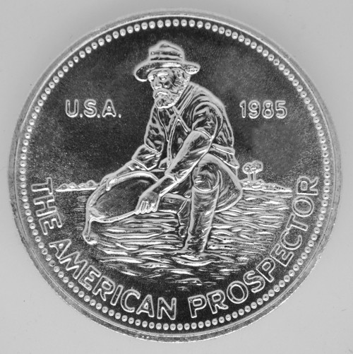 1 oz .999 Engelhard Silver Prospector Round