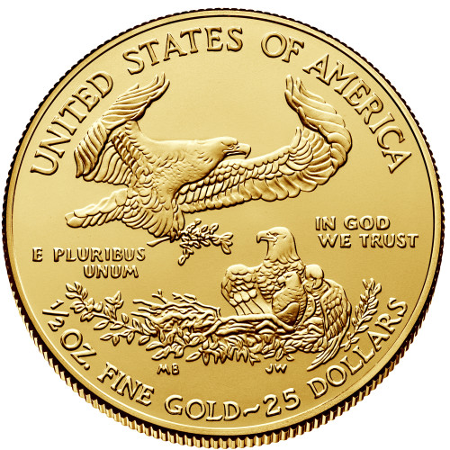Uncirculated 1/2 oz Gold Eagle Various Dates
